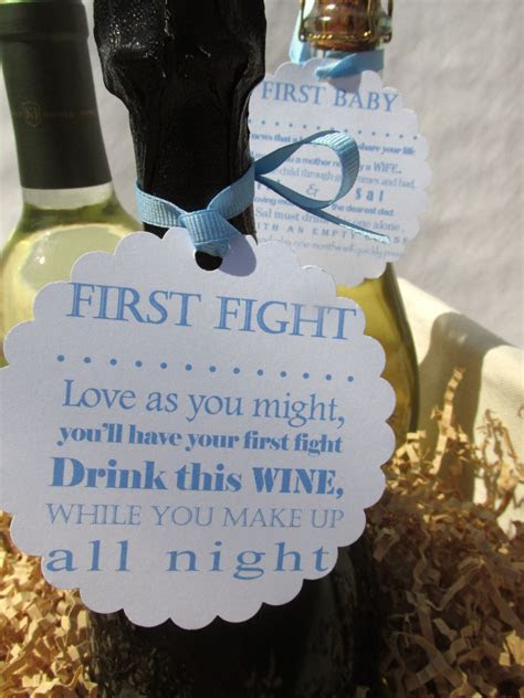 personalized wine poem tags bridal shower