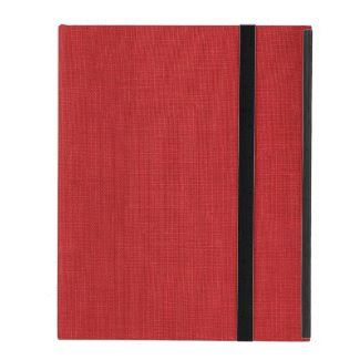 Red Linen Fabric Texture iPad Folio Case