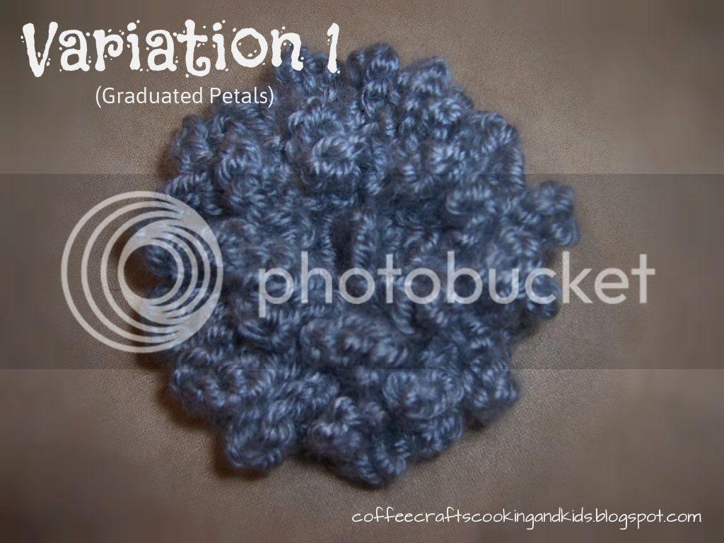 loopy flower crochet pattern