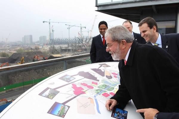 Orlando Silva, Nuzman, Paes e Lula no Parque Olímpico de Londres