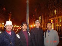 Suasana Malam di Red Light District, Amsterdam, Netherlands