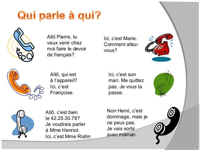Rozmowa telefoniczna - słownictwo 7 - Francuski przy kawie