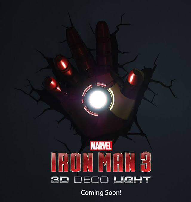 3D Iron Man 3 Hand Nightlight
