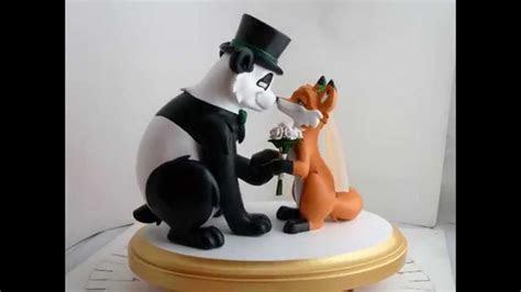 Fox and Panda Wedding Cake Topper   YouTube