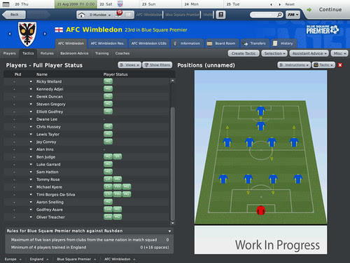 SEGA - Football Manager