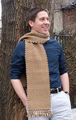 Lion Brand Boyfriend Scarf by Crafty Andy