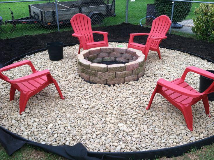 Backyard rock fire pit ideas
