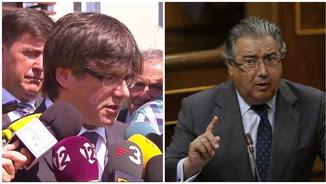 Puigdemont i Zoido intenten consensuar un dia per convocar la Junta de Seguretat (EFE)
