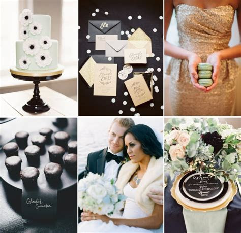 Wedding Color Inspiration: Mint, Gold, and Classic Black