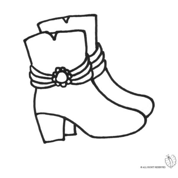 Disegno Di Stivali Da Colorare Per Bambini Disegnidacolorareonlinecom