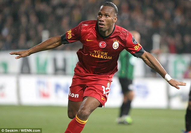 Main man: Didier Drogba made a flying start to his career at Galatasaray with a goal five minutes into his debut