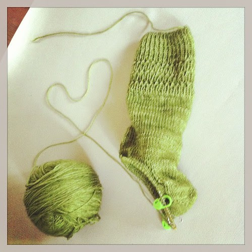 The story of my first sock:)) La storia del mio primo calzino:))