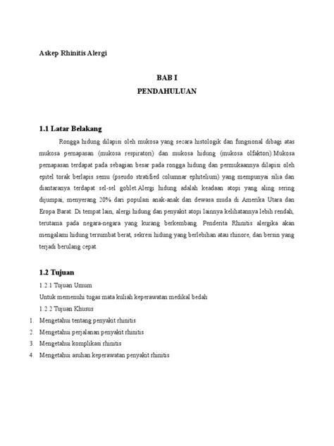 ASUHAN KEPERAWATAN RHINITIS ALERGI PDF