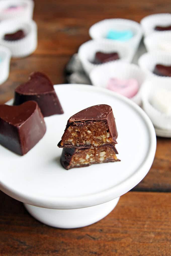 Easy Homemade Valentine's Chocolates - LeelaLicious