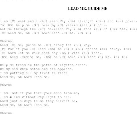 Lead Me Guide Me Lyrics Akers