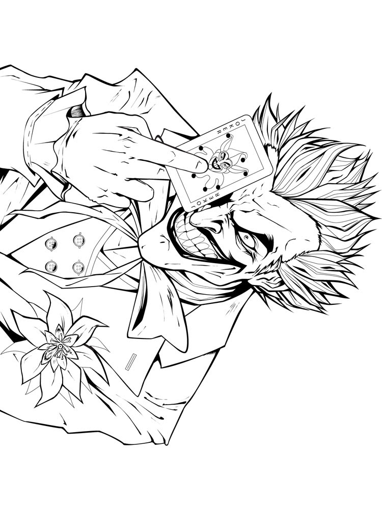 joker coloring pages for boys 1