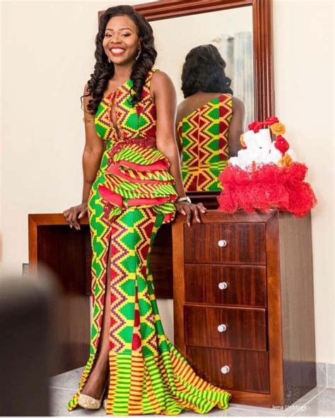 Kente Wedding Dress Styles of 2019   Stylish Gwin Africa