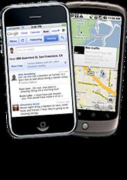 Visualizações do Google Buzz para celular