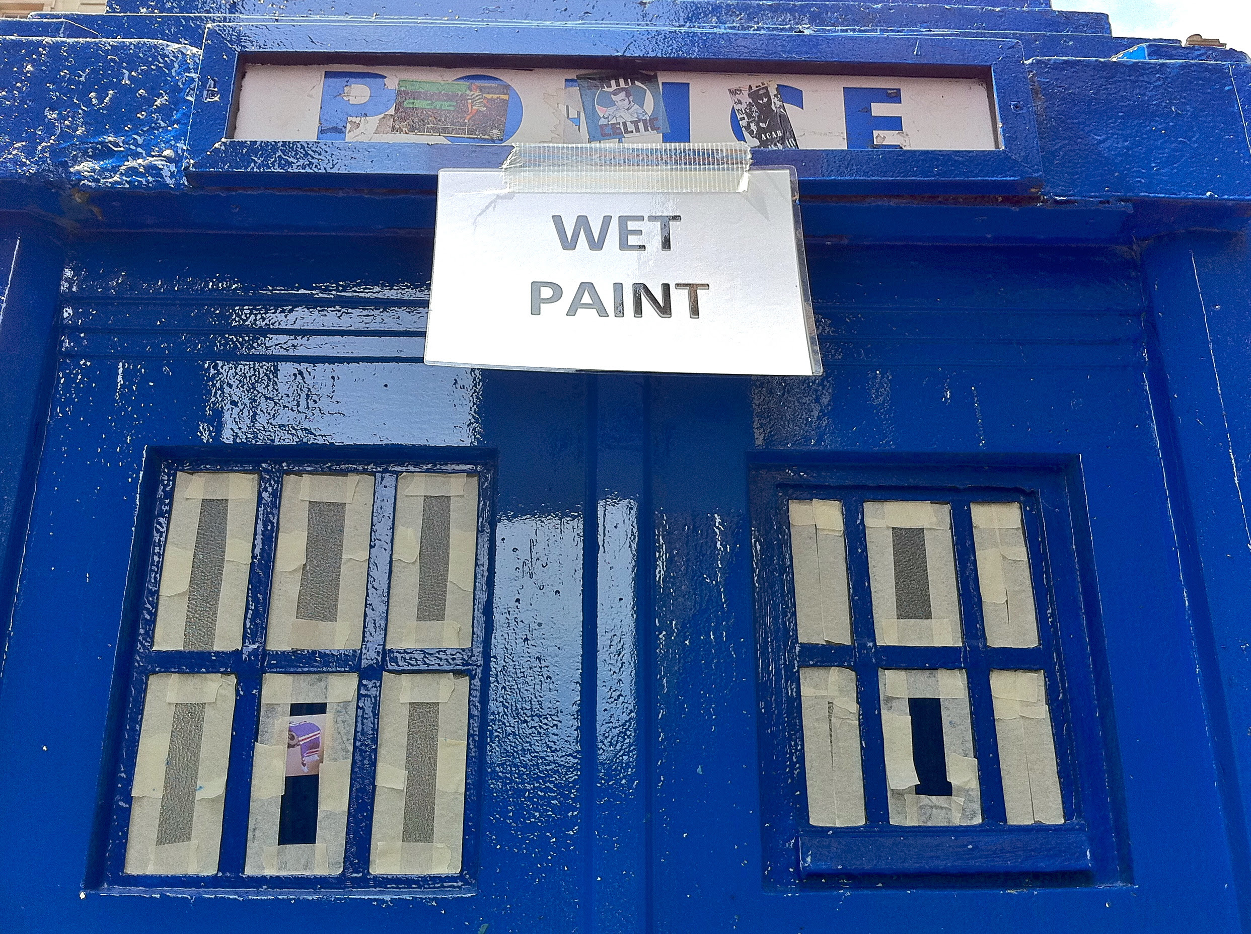 TARDIS paint job