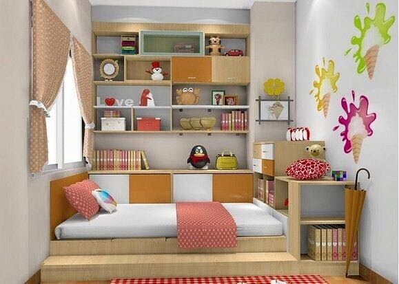 Desain Interior Kamar Tidur Anak Perempuan Minimalis