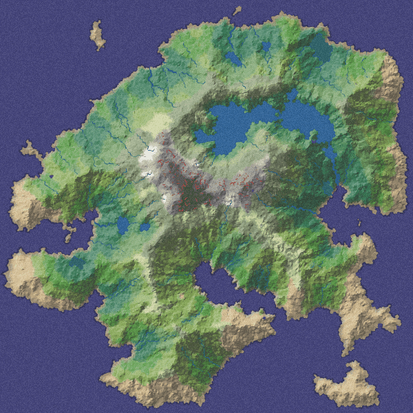 Screenshot of mapgen2 demo