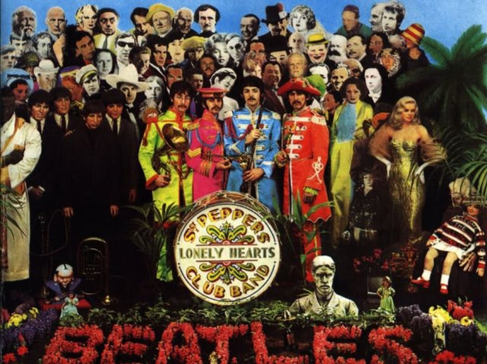 Capa do disco 'Sgt. Pepper's Lonely Hearts Club Band', dos Beatles (Foto: Reprodução)
