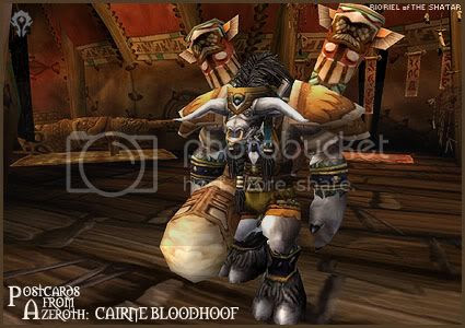 Postcards of Azeroth: Cairne Bloodhoof, by Rioriel Ail'thera