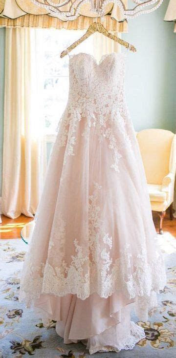 Light Pink Sweetheart Wedding Gown,Tulle Beach Wedding