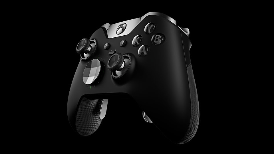 Elite Wireless Controller left angle view
