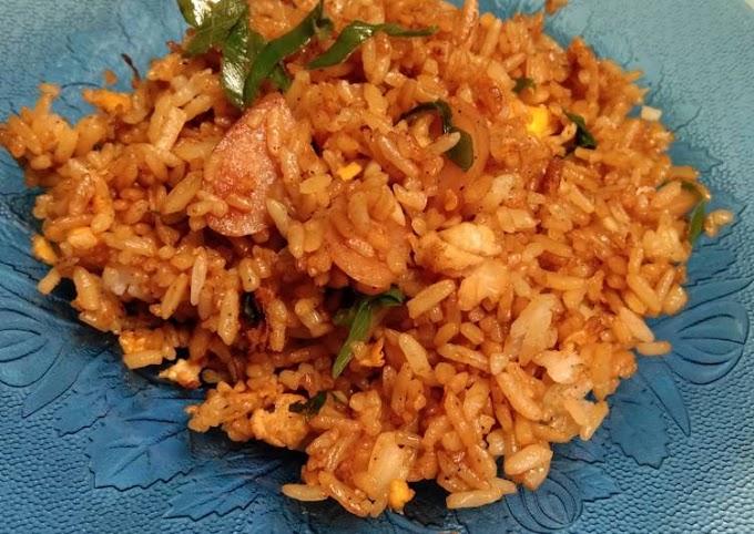 Resep Nasi goreng sosis Cita Rasa Tinggi