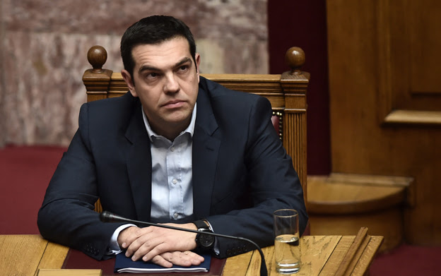 Alexis Tsipras in the Greek parliament, 8 February 2015