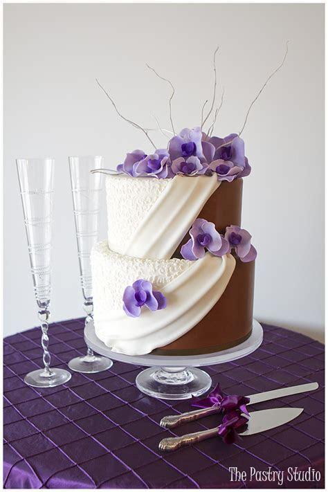 Half White Half Chocolate Wedding Cake {His & Hers} from