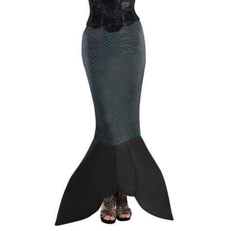 dark sea siren tail skirt ladies adult fancy dress fin