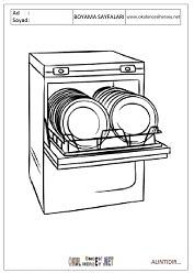 Bulaşık Makinası Boyama Sayfaları