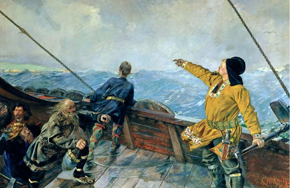 Leif Ericson discovers Vinland, by Christian Krohg.