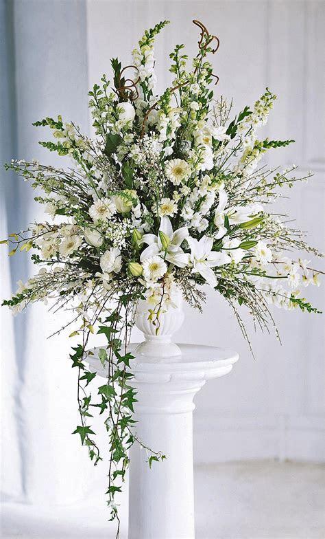 Ceremony flowers classic alter arrangement   Wedding