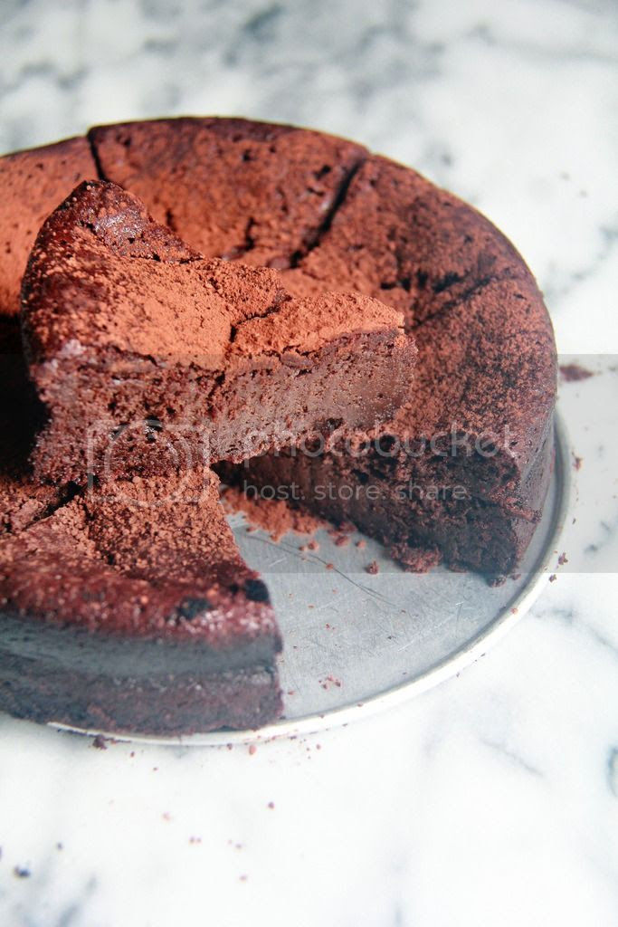 dessert - michael rostang's double chocolate mousse cake