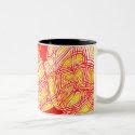 abstract scribbleprint mug