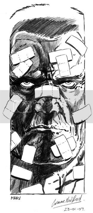Graeme Neil Reid,Illustration,Marv,Sin City