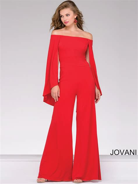 red dressy jumpsuit breeze clothing