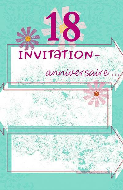 Carte Invitation Anniversaire 80 Ans Gratuite A Imprimer