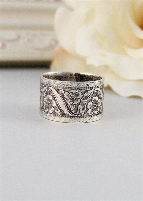 Petite Blossom Ring,Silver,Ring, Flower,Rose Ring,Antique