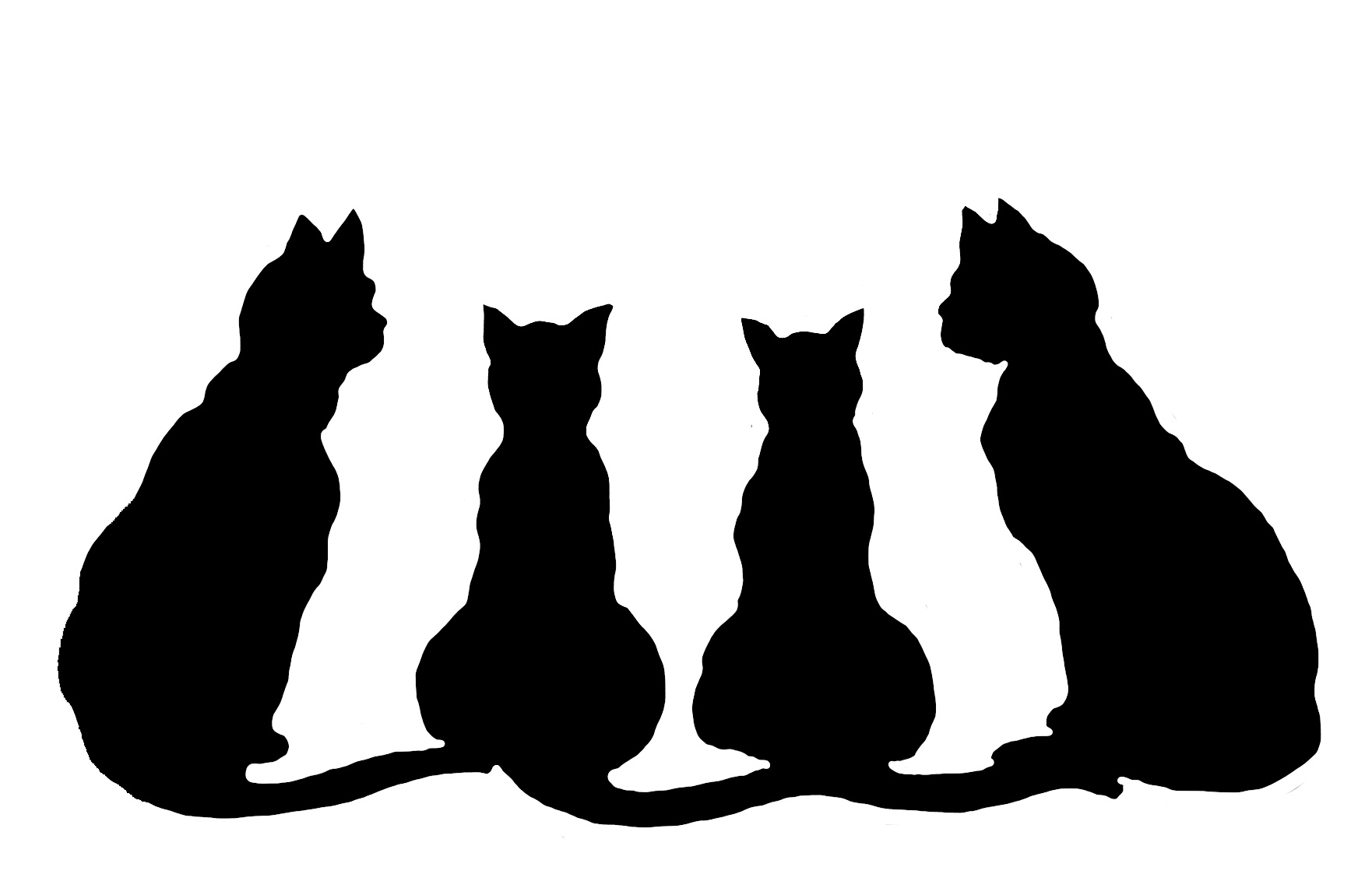 Download Stretching Cat Silhouette at GetDrawings | Free download