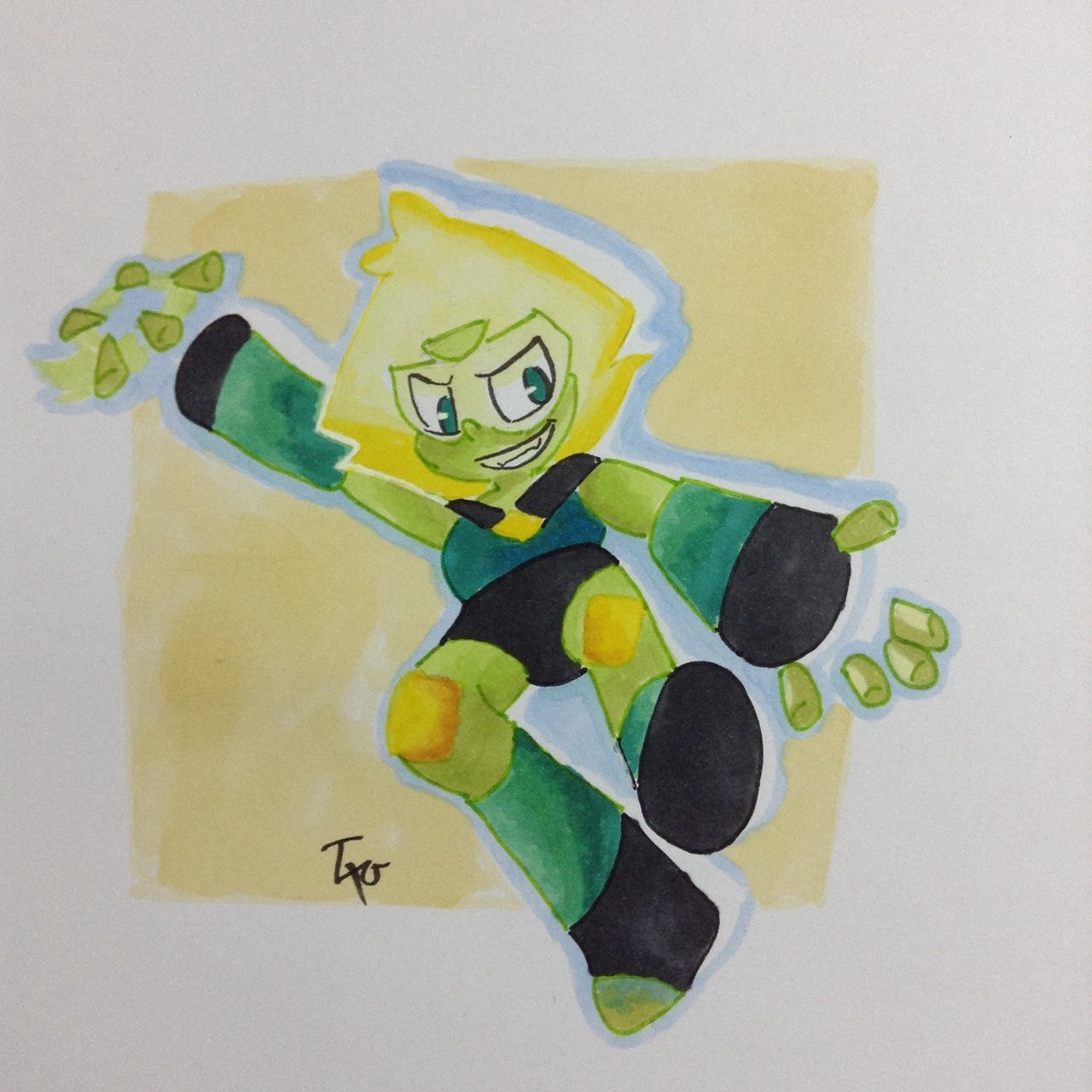 Peridot:You cannot catch the peridot ! Nehhahaha ! It's my first time using markers , I pretty like how it come out Those YouTube tutorials help me a lot !
