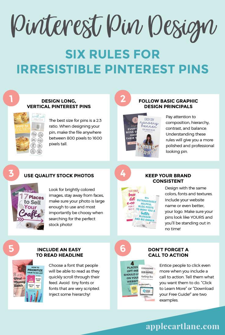 6 Pinterest Pin Design Tips For Irresistible Pins Applecart Lane