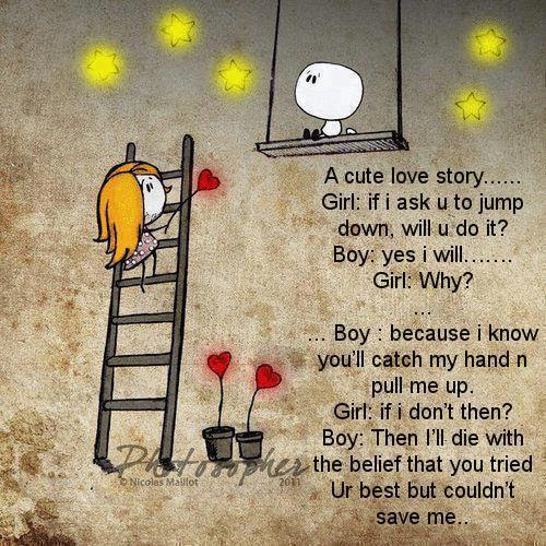 A Cute Love Story Quotespictures Com