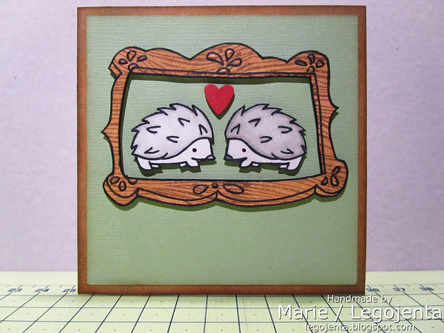 Hedgehogs Framed Card