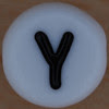 White Bead letter Y
