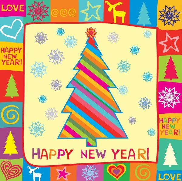 Year  Download Free on Happy New Year Greeting Card Vector Illustration Vector Misc   Free