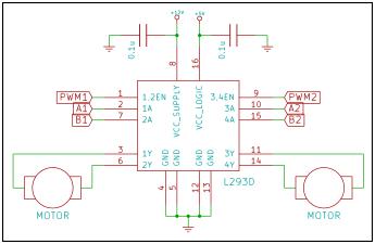 L293D application circuit diagram
